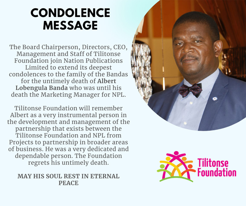 Condolence of Albert Lobengula Banda